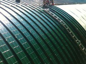 Dachsanierung Rundhalle Moitzfeld