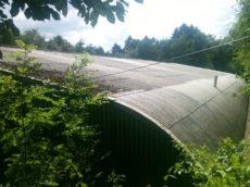 Dachsanierung Rundhalle Moitzfeld vorher