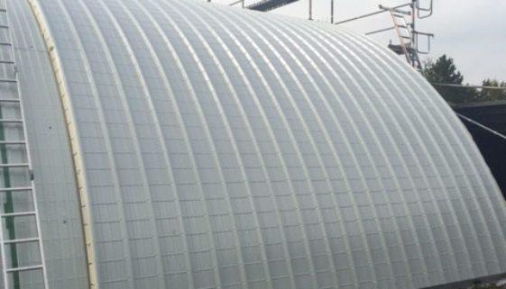 Dachsanierung Rundhalle Tennishalle Reutlingen