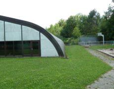 Dachsanierung Rundhalle Tennishalle Reutlingen vorher